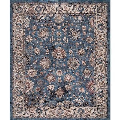 Gramercy Blue 6 ft. x 8 ft. Floral Area Rug