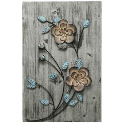 Rustic Floral Panel