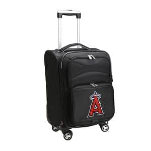MLB Los Angeles Angels Black 21 in. Carry-On Spinner Softside Suitcase