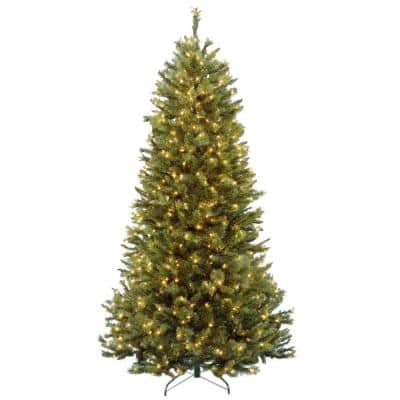 7-1/2 ft. Rocky Ridge Slim Pine Hinged Artificial Christmas Tree with 600 Clear Lights