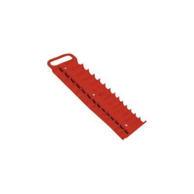 3/8 in. Drive Red Magnetic Socket Holder for 28 Sockets