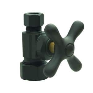 1/2 in. Comp Inlet x 3/8 in. Comp Outlet Multi-Turn Straight Valve with Cross Handle in Oil Rubbed Bronze