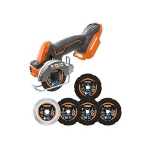 18V SubCompact Brushless Cordless 3 in. Multi-Material Saw (Tool Only) with (6) Cutting Wheels