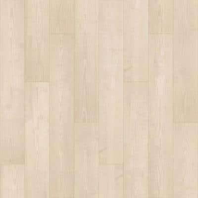 Defense+ 7.48 in. W Winter Mist Pine Antimicrobial Waterproof Laminate Wood Flooring (19.63 sq. ft./Case)
