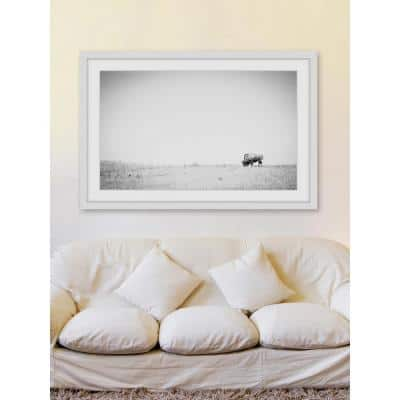 "20 in. H x 30 in. W ""Distant Grazing"" by Marmont Hill Framed Printed Wall Art"