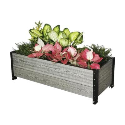 45 in. L x 19 in. W x 14 in. H Deckside Composite Planter Box in Grey