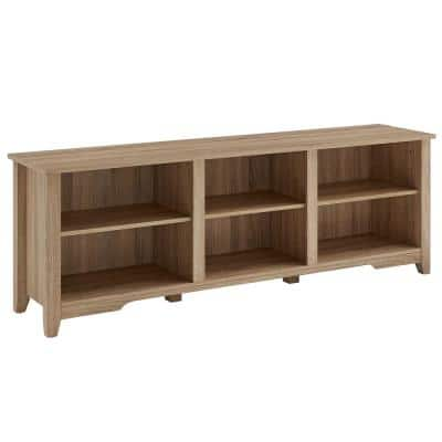 70 in. Oak Tv Stand Fits TV's up to 78 in.