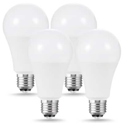 50/100/150-Watt Equivalent A21 3-Way LED Light Bulb in Warm White 3000K (4-Pack)