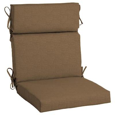 21.5 x 44 Sunbrella Cast Teak High Back Outdoor Dining Chair Cushion