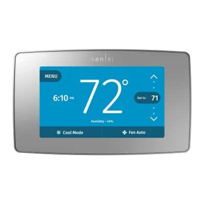 Sensi Touch Smart 7-Day Programmable Thermostat with Touchscreen Color Display, C-Wire Required