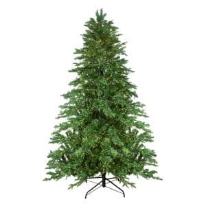 90 in. Pre-Lit Mont Blanc Fir Artificial Christmas Tree - Dual Color LED Lights