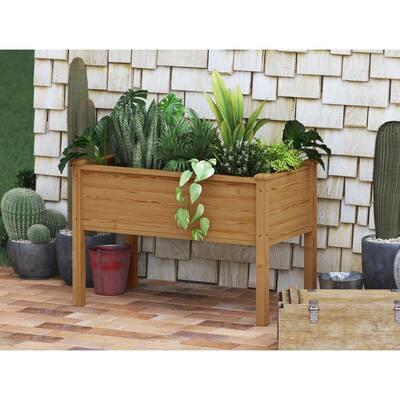 Easy Grow Cedar Tone Wooden Planter