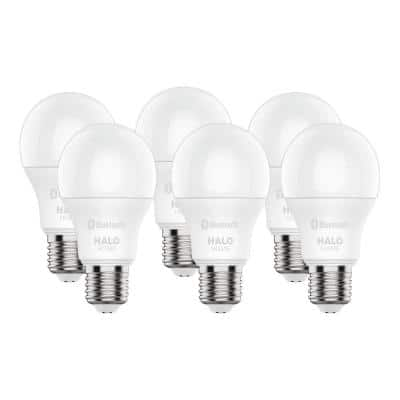 60W Equivalent A19 Dimmable Adjustable CCT (2700K-5000K) Smart Wireless LED Light Bulb in White (6-Pack)