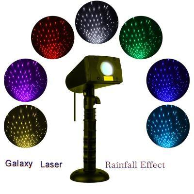 Motion Snow Fall Full Spectrum Star Effects 7-Color White Laser Christmas Lights