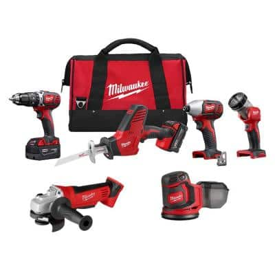 M18 18-Volt Lithium-Ion Cordless Combo Tool Kit (4-Tool) with Orbit Sander and Grinder