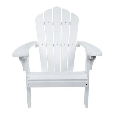 West Palm White Plastic Adirondack Chair