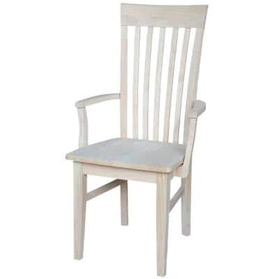 Unfinished Wood Mission Dining Chair