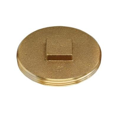 4 in. Brass Threaded Cleanout Plug