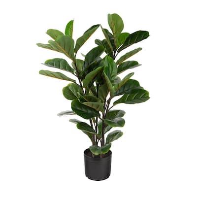 Fiddle Leaf Fig 35 in. Indoor/Outdoor Artificial