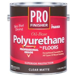 Pro Finisher 1 gal. Clear Matte 450 VOC Oil-Based Polyurethane for Floors (4-Pack)