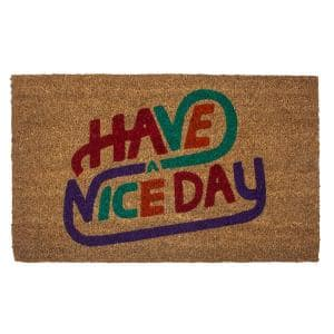 Entryways Confetti Coir 28 In X 17 In Door Mat With Backing P2218 The Home Depot