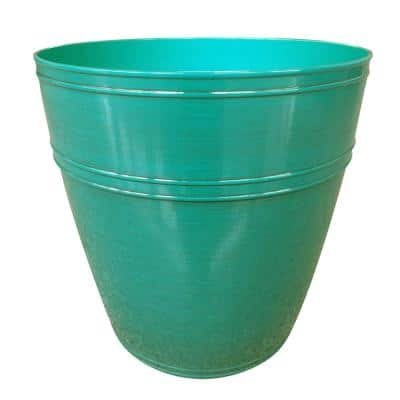 Rosemary 11.4 in. x 9.8 in. Emerald Coast High-Density Resin Planter Fits 10 in. Drop N'Bloom