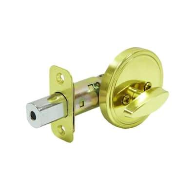 Single Sided Polished Brass Deadbolt
