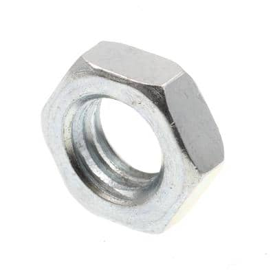 7/16 in.-14 A563 Grade A Zinc Plated Steel Hex Jam Nuts (50-Pack)