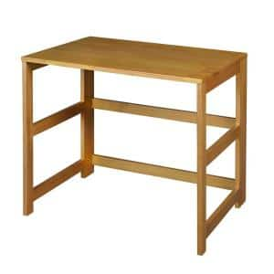 Nemus Medium Cherry Oak Folding Desk with Easy Assembly