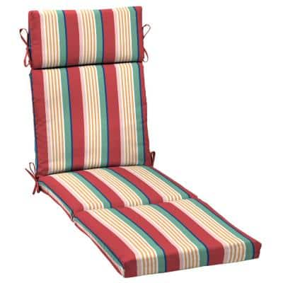 21 in. x 29.5 in. Chaise Lounge Cushion in Keeley Stripe