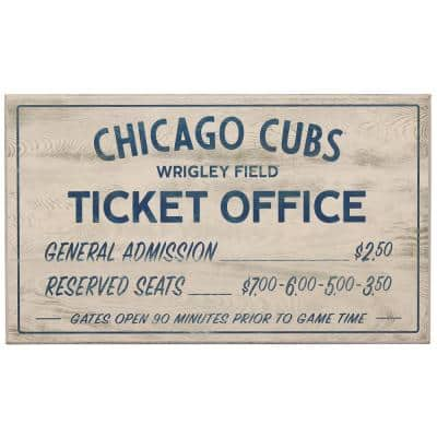 Chicago Cubs Vintage Ticket Office Wood Wall Decor