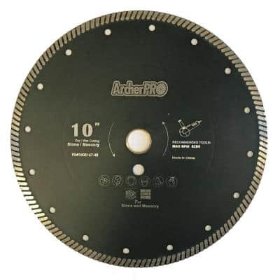 10 in. Narrow Turbo Diamond Blade for Granite Cutting