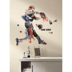 32.5 in. x 32.7 in. Baseball Champion Giant Peel and Stick Wall Decal