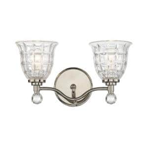 Stephen 2-Light Polished Nickel Bath Light