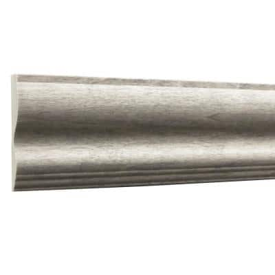 Prestained Gray 35/64 in. x 2-3/4 in. x 96 in. Wood Chair Rail Moulding
