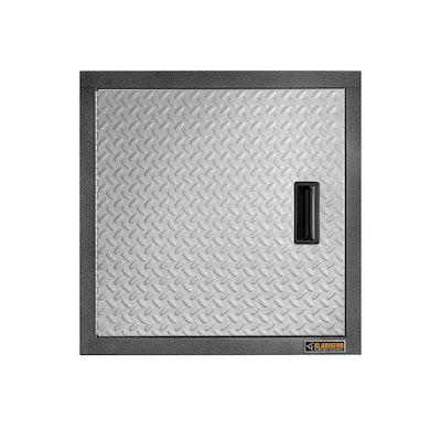 Premier Series Steel 1-Shelf Wall Mounted Garage Cabinet in Dove Gray (24 in W x 24 in H x 12 in D)