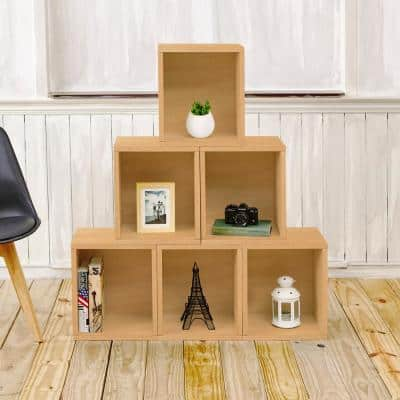 16 in. H x 13 in. W x 11 in. D Natural Recycled Materials 1-Cube Storage Organizer