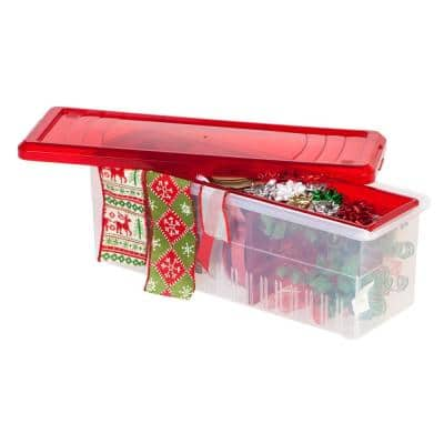 Ribbon Storage Box in Red (3-Pack)