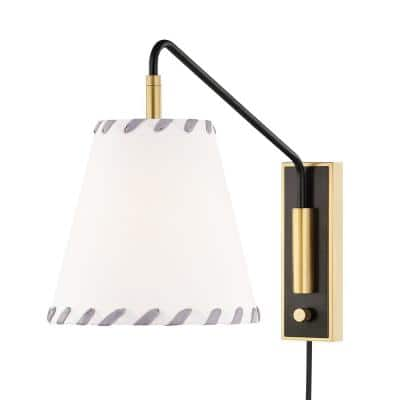 Hannah 1-Light Aged Old Bronze Wall Sconce