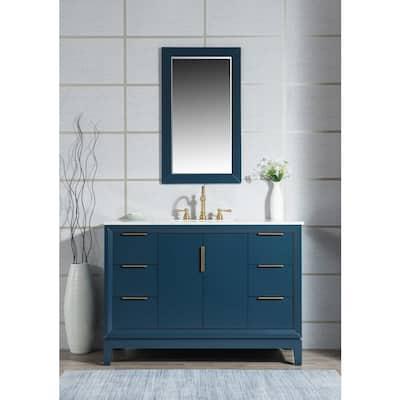 Blue 48 Inch Vanities Bathroom Vanities Bath The Home Depot