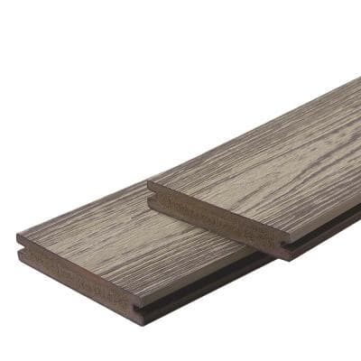 Apex 1 in. x 6 in. x 8 ft. Arctic Birch Grey PVC Grooved Deck Boards (2-Pack)