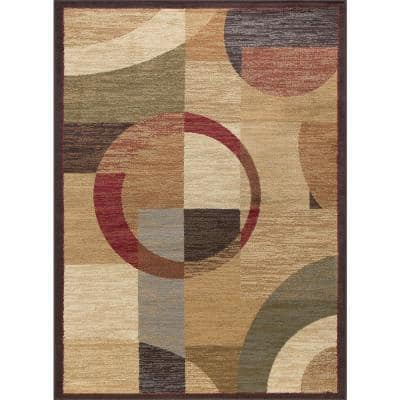 Elegance Multi 5 ft. x 7 ft. Contemporary Area Rug