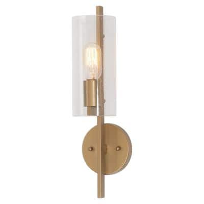 Lnc 4 In 1 Light Honey Gold Modern Wall Sconce Mini Tube Bath Bar Vanity Light Bzynmbhd13858d7 The Home Depot