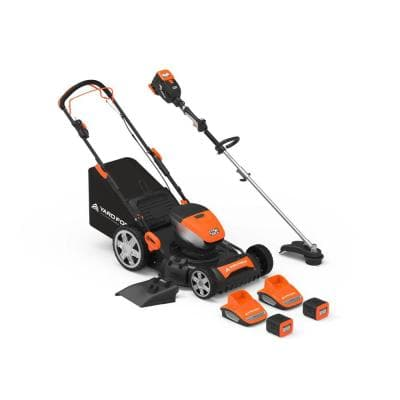 60-Volt Cordless Lithium-ion Mower, Trimmer, 4.0 Ah Battery, 2.5 Ah Battery and 2 Chargers Combo Kit (6-Tool)