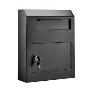 Black Heavy-Duty Secured Safe Drop Box