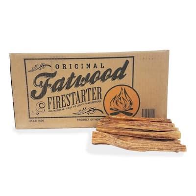 25 lbs. 100% All Natural Fatwood Firestarter