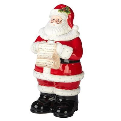 Holiday Wishes by Susan Winget 3-D 12.25 in. Santa Cookie Jar