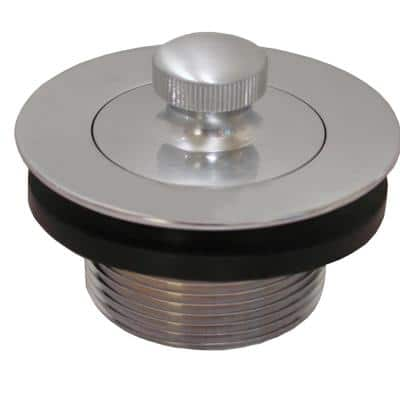 1-1/2 in. Lift and Turn Bath Tub Drain with 1-7/8 in. O.D. Coarse Threads, Brushed Stainless