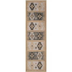 Zuata Taupe 2 ft. 2 in. x 7 ft. 7 in. Runner Rug