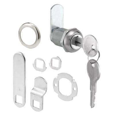9/16 in., Diecast and Steel, Stainless Steel finish, Drawer and Cabinet lock